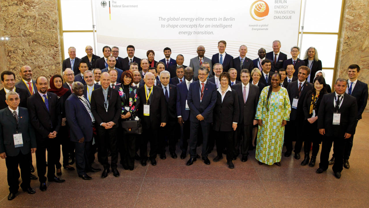 Meeting of high-ranking officials at the Berlin Energy Transition Dialogue 2017.